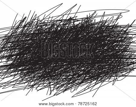 Scribble black background, Vector