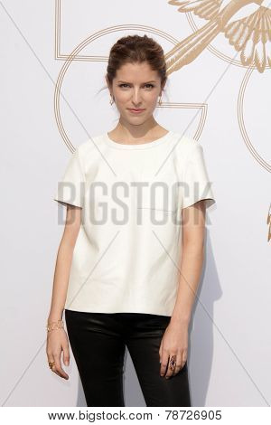 LOS ANGELES - JAN 9:  Anna Kendrick at the LoveGold Event at the Selma House on January 9, 2014 in Los Angeles, CA