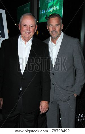 LOS ANGELES - DEC 7:  Dick Cook, Kevin Costner at the Lumiere Award presented by KCET Cinema Series at the Arclight Theater on Deccember 7, 2014 in Sherman Oaks, CA