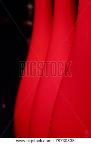 Abstract background with red lampshades