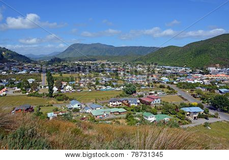 View Of Waikawa Valley & Picton, New Zealand.