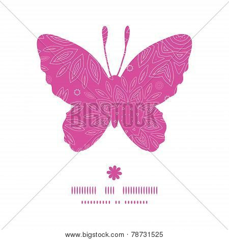 Vector pink abstract flowers texture butterfly silhouette pattern frame