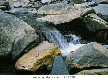 Waterfall and Rocks