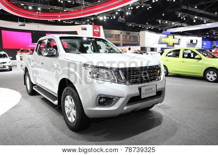 Bangkok - November 28: Nissan Np300 Navara Car On Display At The Motor Expo 2014 On November 28, 201