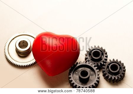 Mechanical Ratchets And Red Heart