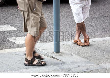 a man at the bus stop