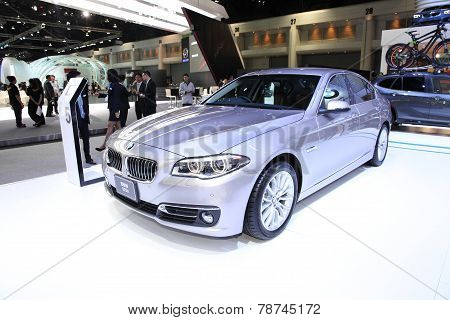 Bangkok - November 28: Bmw 525D Car On Display At The Motor Expo 2014 On November 28, 2014 In Bangko