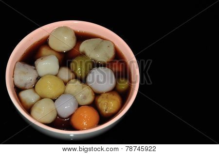 colorful glutinous rice balls