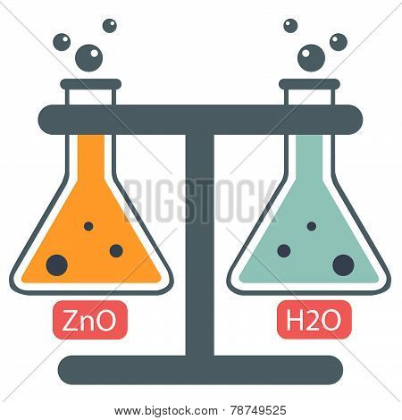 Chemistry Lab with two compounds
