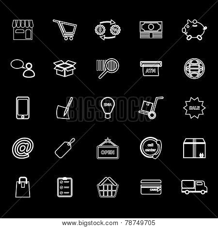 Internet entrepreneur line icons on gray background