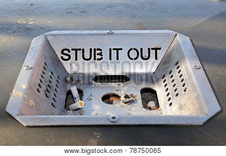 Stub it out ashtray.