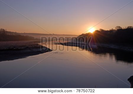 Sunrise Over The River