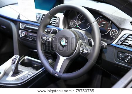Bangkok - November 28: Console Inside Bmw I8  Car On Display At The Motor Expo 2014 On November 28,