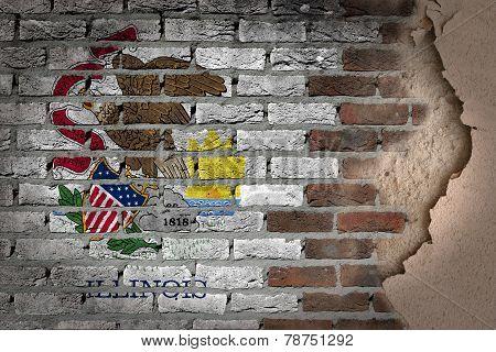 Dark Brick Wall With Plaster - Illinois