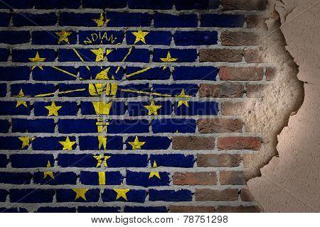 Dark Brick Wall With Plaster - Indiana