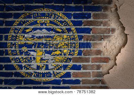 Dark Brick Wall With Plaster - Nebraska