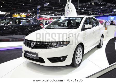 Bangkok - November 28: Proton Preve Car On Display At The Motor Expo 2014 On November 28, 2014 In Ba