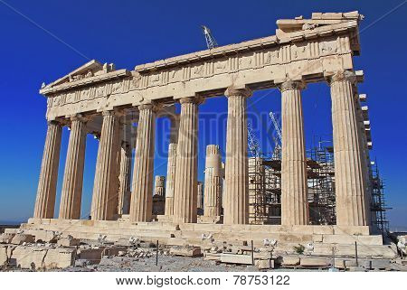 View Of Parthenon Temple, Acropolis, Athens, Greece