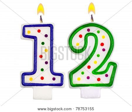 Birthday Candles Number Twelve