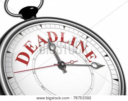 Deadline Concept Clock