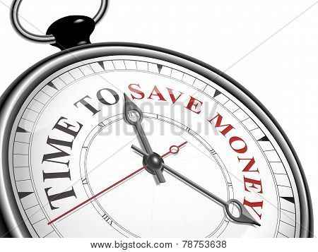Time To Save Money Concept Clock