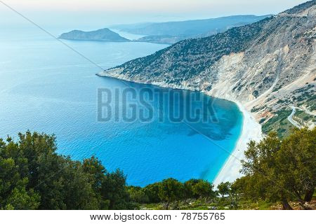 Sunset Summer Coastline ( Kefalonia, Greece).