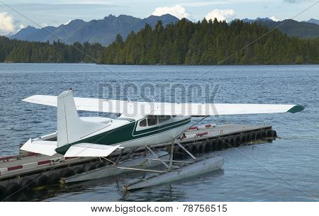 Landscape With Hydroplane In Nanaimo. Vancouver. Canada
