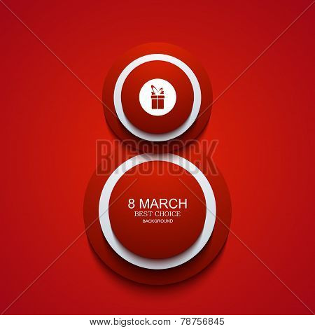 Vector modern 8 march background. Womens day
