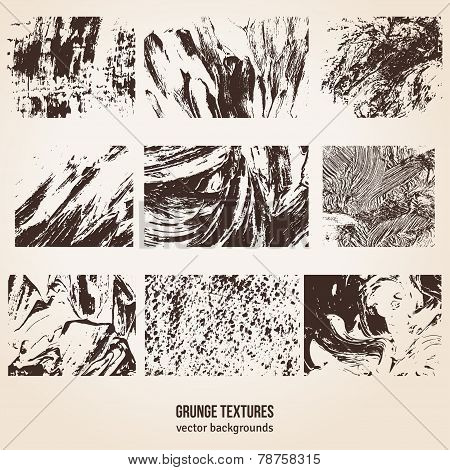 Grunge Textures. Vector Illustration.