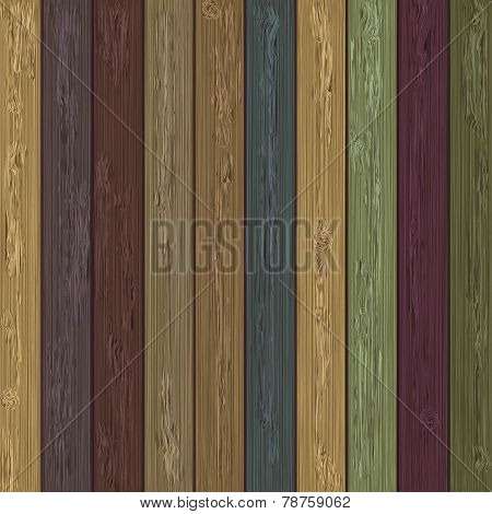 Vector colorful wooden background.