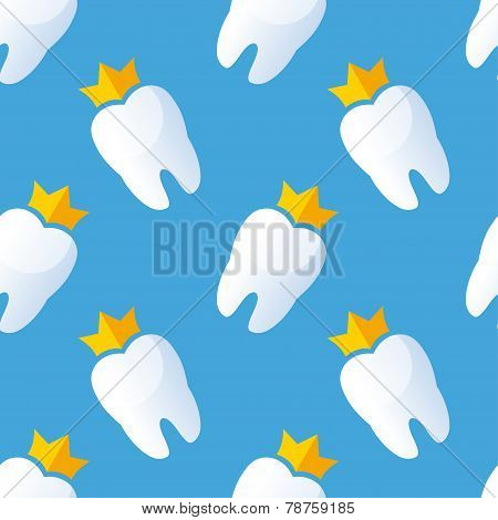 Teeth seamless pattern. Vector illustration.