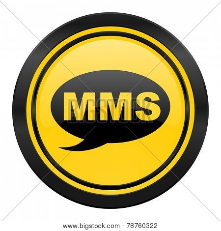 mms icon, yellow logo, message sign