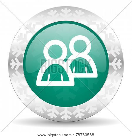 forum green icon, christmas button, people sign