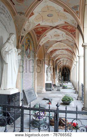 Arcades On Vysehrad In Prague