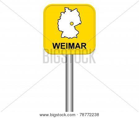 Sign of german city Weimar