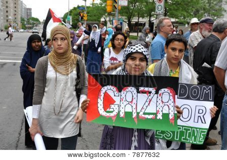 Anti-Israel rally in Ottawa