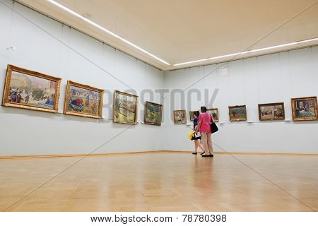 SAINT-PETERSBURG, RUSSIA -AUGUST 10: Interior of  Hermitage, the museum of art and culture in Saint Petersburg.