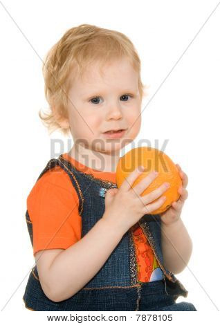Girl With Orange