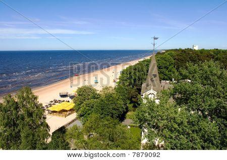 Jurmala beach - view from above