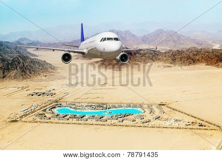 Passenger Airliner Took Off Over The Egyptian Resort Of Sharm El-sheikh