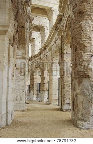 Inside Arles Amphitheatre