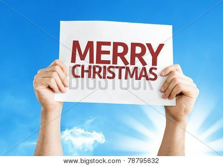 Merry Christmas card with a beautiful day