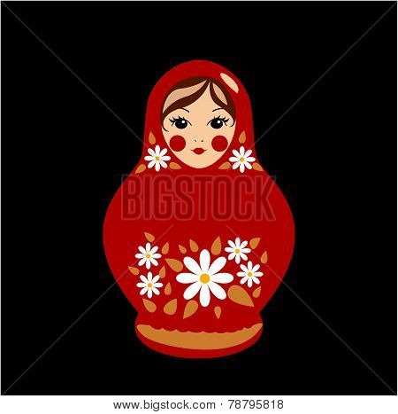Babushka Doll in Red