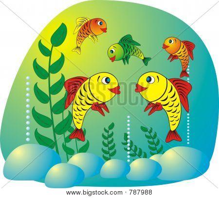 Aquarium fish Illustration