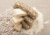 picture of sesame seed  - Kozinaki  of sunflower seeds and sesame seeds - JPG
