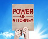 image of mandate  - Power of Attorney card with beautiful day - JPG