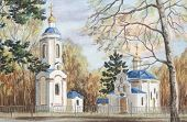 pic of novosibirsk  - Picture a pastel on a cardboard - JPG