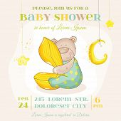 image of baby bear  - Baby Shower or Arrival Card  - JPG