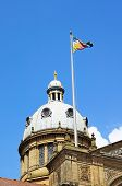 stock photo of west midlands  - Dome and flagpole on top of the Council House in Victoria Square Birmingham West Midlands England UK Western Europe - JPG