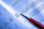 foto of budget  - Operating budget and a pen in closeup - JPG